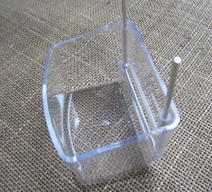 2 hook drinkers  extra large , 4  of   with metal hooks. For cage & aviary birds