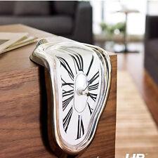 New Melting Clock homage to Salvador Dali Art Roman Numerals  Shelf Clock 6326U