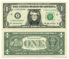 ANDY WARHOL VRAI BILLET 1 DOLLAR US ! COLLECTION PEINTURE POP ART Factory Sign