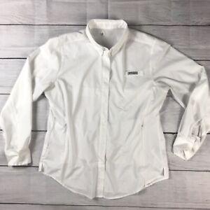 Women's COLUMBIA PFG Tamiami II Omni Wick/Shade Vented L/S Shirt Sz Large