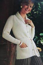 Ladies Cardigan/Coat Knitting Pattern (LK002)