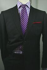 Recent Super 120's Hugo Boss 'Berolucci/Movie' Brown Pinstripe Suit 38S  #0926