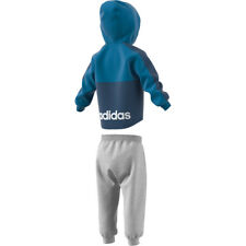 adidas Linear Full Zip Fleece Jogger Babies' Tracksuit Blue/white 3 Years