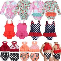 Baby Girls Swimsuit Swimwear Rash Guard Beachwear Sun Protection Bathing Suit