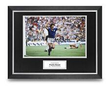 Paolo Rossi Signed 16x12 Framed Photo Display Italy Autograph Memorabilia COA