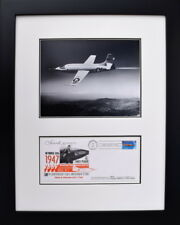"BELL X-1 BREAKING THE SOUND BARRIER W/ ""SIGNED"" ENVELOPE - Framed Art"