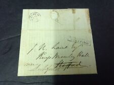 Staffordshire Postal History, Missent To Stafford Feb1832 To Kings Bromley Hall