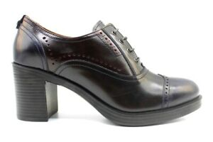 Scarpe da donna francesine Nero Giardini 3131D pelle lucida tacco grosso plateau