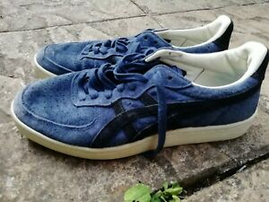 Quality Asics Blue Suede Trainers Size 39 / 5.5