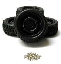 Neumáticos, llantas y bujes rueda de color principal negro para vehículos de radiocontrol Universal
