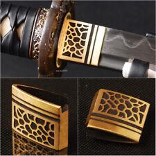 Leopard Pattern Brass Sword Collar Habaki For Japanese Samurai katana Wakizashi