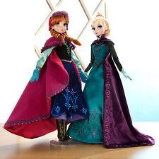 "Disney ELSA Coronation ANNA Snow Gear Frozen Dolls LIMITED EDITION SET 17"""