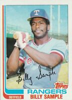 FREE SHIPPING-MINT-1982 (RANGERS) Topps #112 Billy Sample (FACSIMILE AUTOGRAPH-A