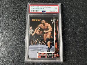 2002 Fleer Royal Rumble Batista Rookie Card PSA NM 7 - WWE Marvel