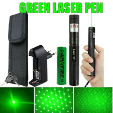 10miles 532nm Grün Hightech Laserpointer /Extrem Stark +Ladegerät+Akku+Aufsatz