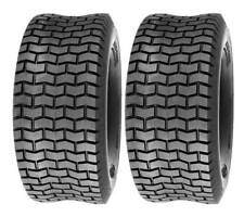 Pack of 2, Deli Tire 15 x 6.00 - 6, Turf Tires, 4 PR, Tubeless, Lawn Mower Tires
