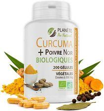 Complement Curcuma Et Poivre Noir Bio 200 Gelules Vegetales  Fabrication France