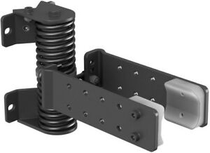 Self-Closing Device Kit Steel in Black with 4 Hex Head Lag Screws & Allen Wrench