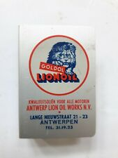VINTAGE ADVERTISING MATCHBOX HOLDER LIONOIL ABOUT 60'S PORTE BOITE D'ALLUMETTE 5