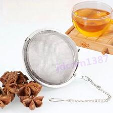 Stainless Steel Tea Leaf Strainer Lock Mesh Herbal Spice Infuser Filter Diffuser