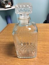 VINTAGE GLASS CRYSTAL WHISKY SCOTCH DECANTER WITH ORIGINAL STOPPER USED ELEGANT