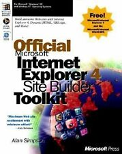 Official Microsoft Internet Explorer 4 Site Builder Toolkit