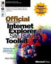 Official Microsoft Internet Explorer 4 Site Builder Toolkit