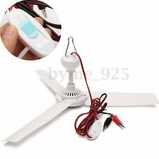 Dc12v 6w 3 Leaves Brushless Converter Motor Battery Hanging Ceiling Fan Switch