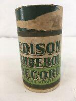 Vtg Edison Amberol Record Cardboard Case Only Display Prop