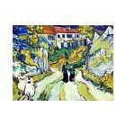 Vincent Van Gogh Stairway at Auvers Vintage Print-FREE US SHIPPING