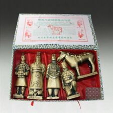 Five Set of Mini Chinese King And Soldier Terracotta army warrior clay figure