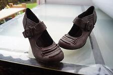 schicke TAMARIS Trend Damen Schuhe Pumps Sandalen Gr.39 vintage Leder Nieten #7