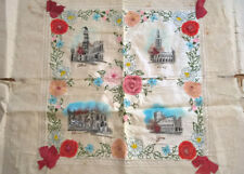 More details for ww1 antique french souvenir embroidered painted silk doilie ypres arras peronne