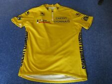 """Tour de France 1995 Giordana Yellow Leaders cycling jersey [42""""]"""