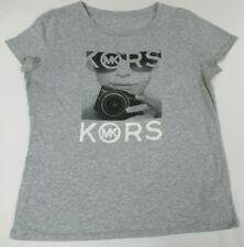 Michael Kors Fotografie Damen Kamera - Grau Damen Große T-Shirt D1173