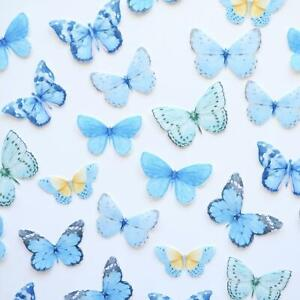 Edible Pre-Cut Wafer Butterfly - Blue