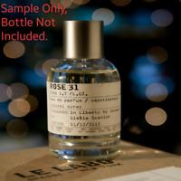 AUTHENTIC LE LABO ROSE 31 Eau De Parfum - Sample FAST FREE SHIPPING RARE