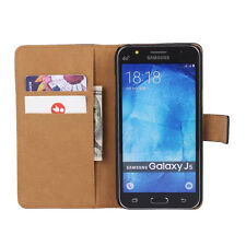 For Samsung Galaxy J5 2015 Genuine Leather Flip Wallet Stand Case Cover J500