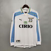 Lazio 2000 2001 Away Long Sleeve Retro Soccer Jersey Shirt Football