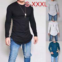 Men Slim Fit T Shirt Long Sleeve Muscle Tee Shirts Casual T-shirt Tops Blouse WL