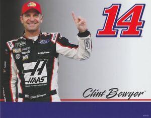 2018 Clint Bowyer Bass Pro Shops Bristol NASCAR MENCS blankback postcard