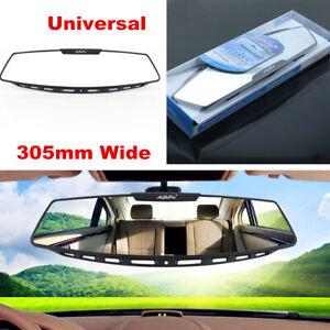 "12"" Wide Convex Interior Clip-on Rear View White Tint Mirror Car Truck Universal"