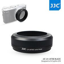 JJC Black Metal Lens Hood for Fujifilm X70 Camera+49mm Adapter Ring as LH-X70 V2