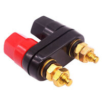 Amplifier Jack Adapter Terminal Binding Post Speaker Dual Female Banana Plugs