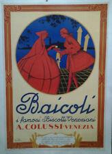AFFICHE ANCIENNE BISCOTTI BAICOLI COLUSSI VENEZIA VENISE ITALIA  ITALIE