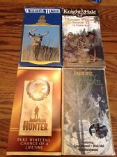 Lot Of 4 Whitetale Hunting VHS Videos - Knight & Hale, Dave Embry, American