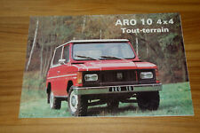 Dépliant ARO 10 4x4 de 1982