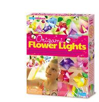 KidzMaker - Origami-Blumenlampen - Lichterkette Bastelset 4M Mädchen Beleuchtung