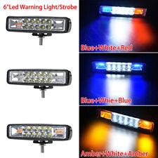 LED Work Light 48W Bar Side Shooter Combo White & Amber Flash Strobe Lamp SUV