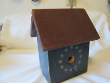 Bird House Rustic Painted Wood Handmade